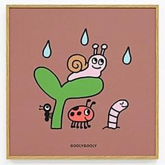 굴리굴리 / Little friends (액자포함)