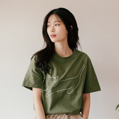 [Organic cotton] The Cat (green)