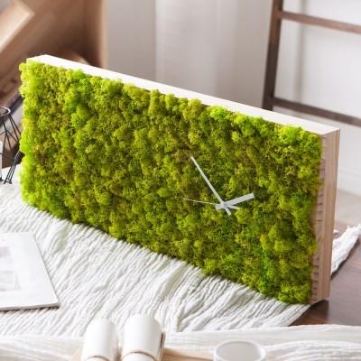 [숲앤숨] 가든 모스 벽시계(60x25cm) - 스프링그린