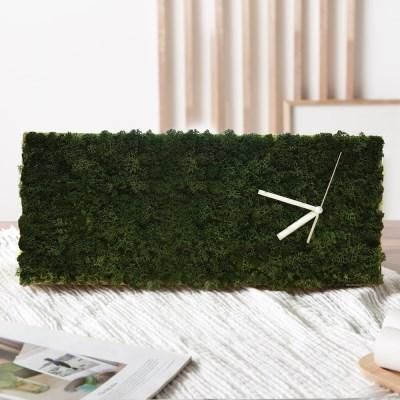 [숲앤숨] 가든 모스 벽시계(60x25cm) - 모스그린