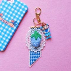 토이 키링-레이스 하늘 딸기