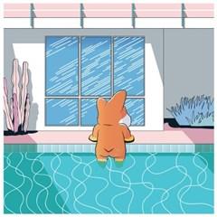 데이비드 코기니 'Corgiman Getting Out of Pool' [Parody] Poster