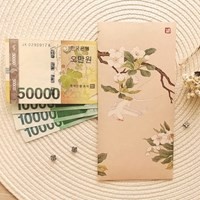민화 돈봉투 G [배꽃과 흰제비] 3EA