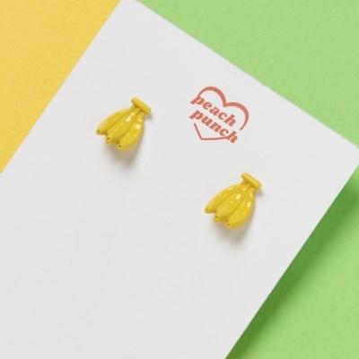 바나나 3D 귀걸이