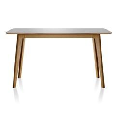 스킨 사선오크 테이블