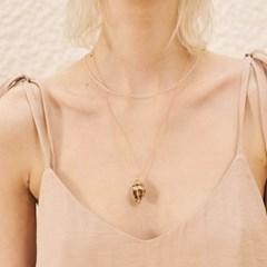 [써틴먼스] GOLD FOIL CONCH NECKLACE PINK