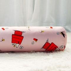 스누피 정품 하우스 바디필로우 롱쿠션 솜포함 핑크_(1015774)