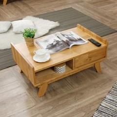 웨어하우스가구 소나타 거실 쇼파 원목 테이블 (서랍형)