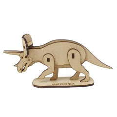 [ 모또 나무 입체퍼즐] 트리케라톱스 공룡 만들기 입체퍼즐