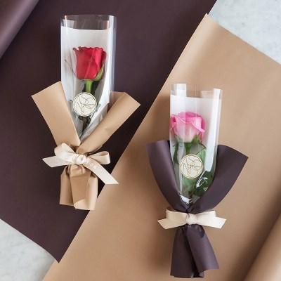 장미한송이에 담긴 사랑 로즈 한송이꽃다발 생화[낱개상품]