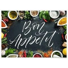 패브릭 포스터 F103 레터링 주방 소품 액자 Bon appetit