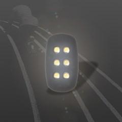 hexa Flicker 자가발전 조깅 LED 라이트_(652431)