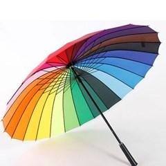 레인보우 무지개 24골 장우산