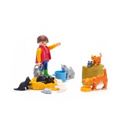 플레이모빌 아가씨와 고양이 가족(6139)