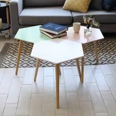 팬물산 DIY 다용도 헥사곤 사이드 테이블 3종_(1345973)