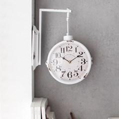 빈티지 벽걸이 양면시계 - 화이트_(2695817)