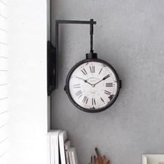 빈티지 벽걸이 양면시계(8Q1324-1) - 블랙_(2695816)