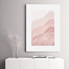 핑크웨이브 추상화 그림 인테리어 액자 포스터