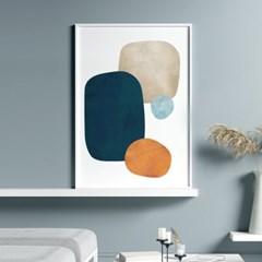 콜라주 추상화 그림 인테리어 액자 포스터