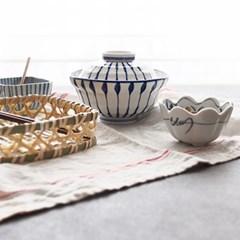블루 뚜껑 돈부리그릇 (우동그릇면기, 덮밥, 규동그릇)