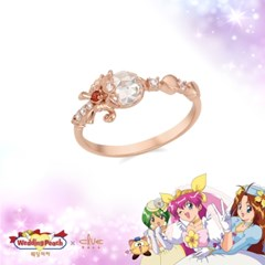 [웨딩피치X클루] 사랑의 빛, 웨딩피치 천사의 크리스탈 실버 반지