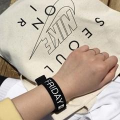 FR!DAY 손목 밴드 팔찌 (2색상)