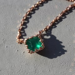 grace square green onyx necklace