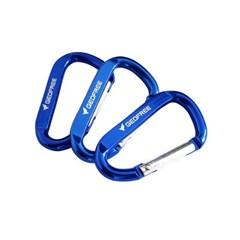 지오프리 캠핑 카라비너 10개 세트 블루 GF1019005BL 에어팟카라비너