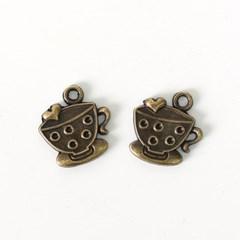 [펠트친구]금속참장식-찾잔(4개)[1532]