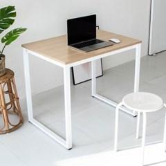 디어 800 입식 컴퓨터 책상-파인/화이트철제