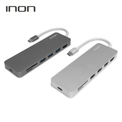 아이논 USB C타입 to 3.0 7포트 with HDMI SD MicroSD 허브