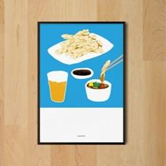 유니크 인테리어 액자 디자인 포스터 M 탕수육 맥주 중국음식