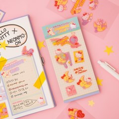 [텐바이텐 단독] HELLO KITTY CHARMING CLUB 3 Stickers - Glitter