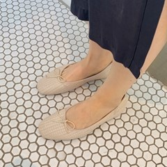 Rattan pattern flat shoes_Y_(1303138)