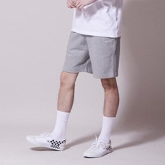 SP056_Wave Logo Banding Shorts_Melange
