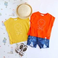 시계 프린트 아동 티셔츠 IB2CH505U