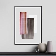 마젠타 추상화 그림 인테리어 액자 포스터