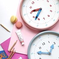250파이 어린이 시간공부 무소음 컬러벽시계(2color)_(1777157)