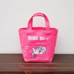 웨그어테일 패브릭 산책가방 핑크