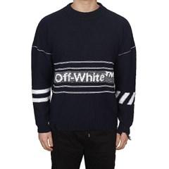19SS 오프화이트 자수로고 스웨터 (블루) OMHE016R