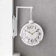 클래식 화이트 빈티지 벽걸이 양면시계_(1599527)