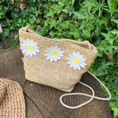 데이지크로스백 Daisycross bag (S/M size) - Natural