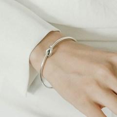 심플 매듭팔찌 셀린st 은팔찌 (SB107 Clear Knots)