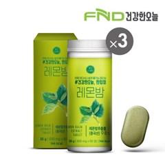FND건강한오늘 한입정 레몬밤정 3통(180정) 6개월분