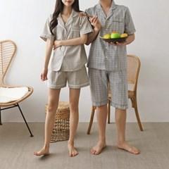 Muse Check Pajamas Set - 커플룩
