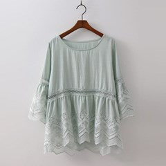 New Cotton Lace Blouse
