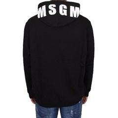 18FW MSGM 오버사이즈 로고 후드 (블랙/남성) 2540MM177 184799 99