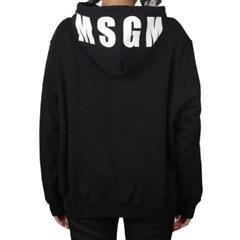 19SS MSGM 오버사이즈 로고 후드 (블랙/여성) 2641MDM68 299 99