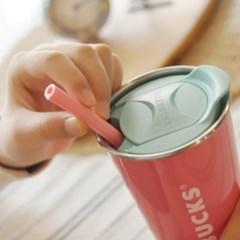 NPE 2019 핑크 친환경 개방형 실리콘 빨대 휴대용 다회용 재활용