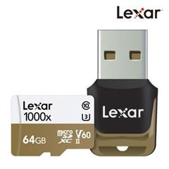 [렉사] 공식판매원 microSD카드 1000배속 UHS-Ⅱ급 64GB_(912197)